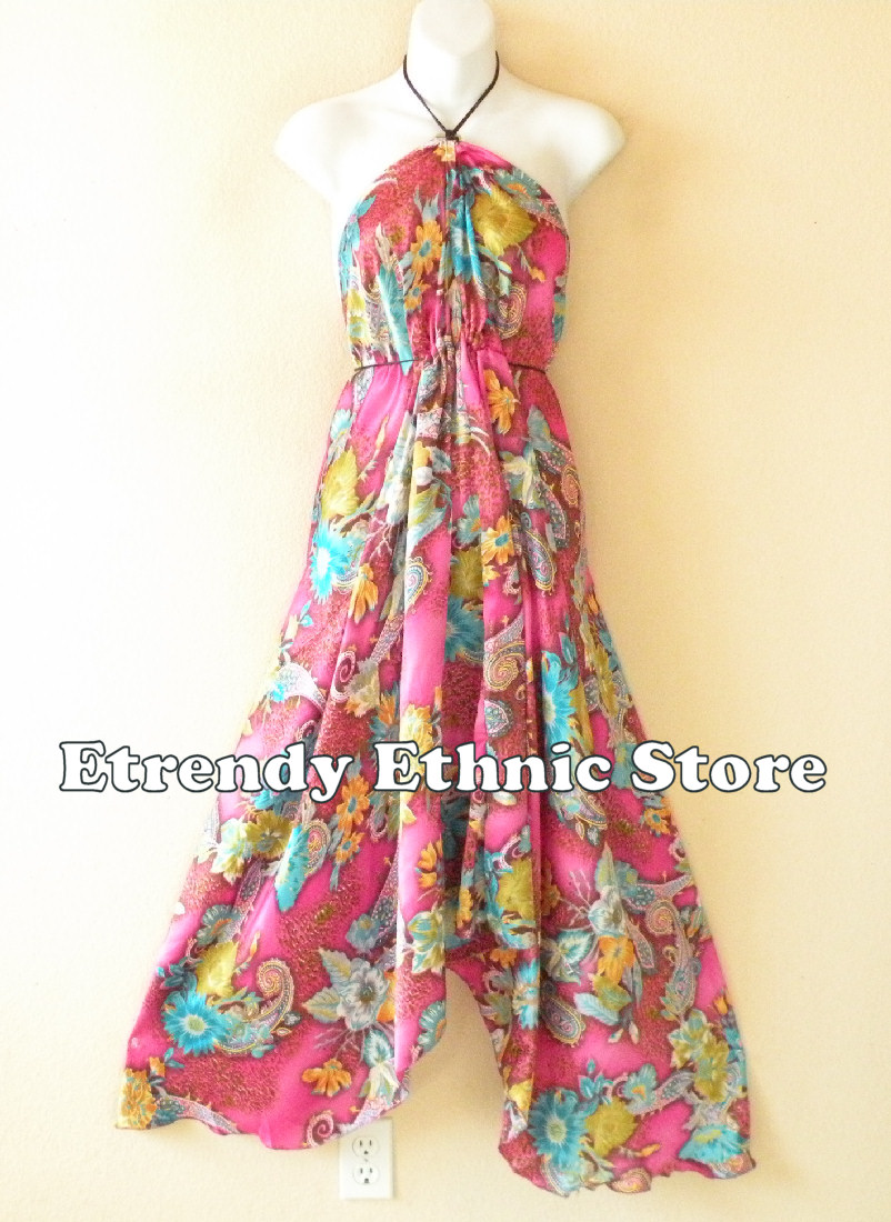 2SD113 - Multi Wear Silk Scarf Dress
